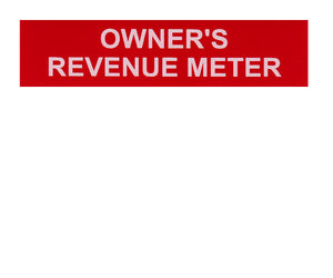 Owner's Revenue Meter Vinyl Label<br>(UV materials)
