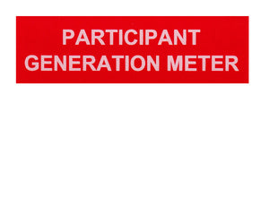 Participant Generation Meter Vinyl Label<br>(UV materials)