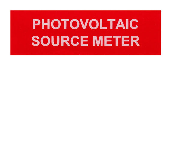 Photovoltaic Source Meter Vinyl Label<br>(UV materials)