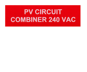 PV Circuit Combiner Vinyl Label<br>(UV materials)