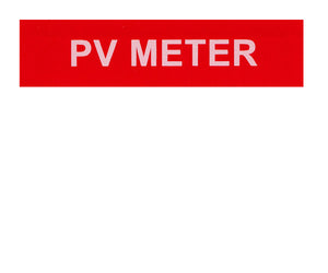 PV Meter Vinyl Label<br>(UV materials)