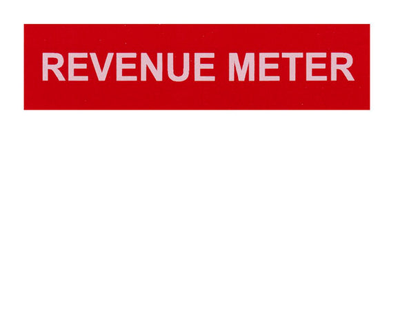 Revenue Meter Vinyl Label<br>(UV materials)