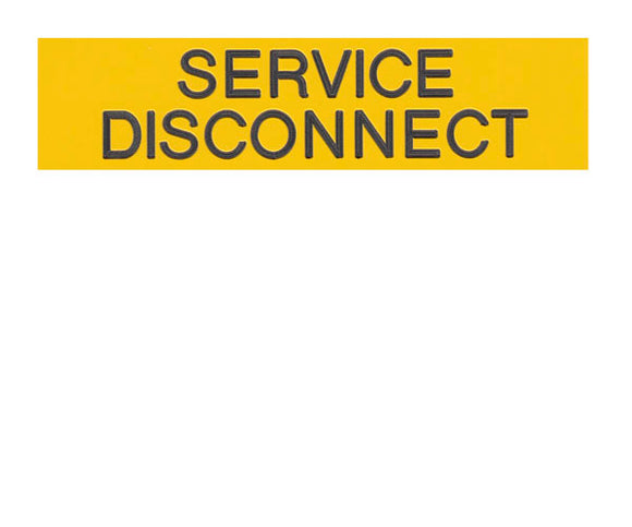 Service Disconnect Engraved Label<br>(UV Acrylic)
