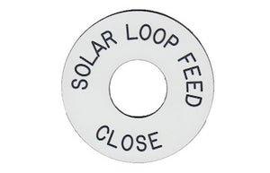 Solar Loop Feed Engraved Label<br>(UV Acrylic)