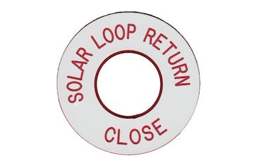 Solar Loop Return Engraved Label<br>(UV Acrylic)