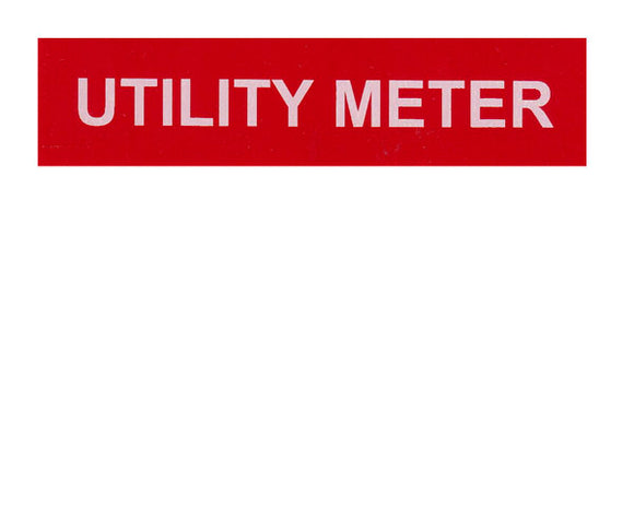 Utility Meter Vinyl Label<br>(UV materials)