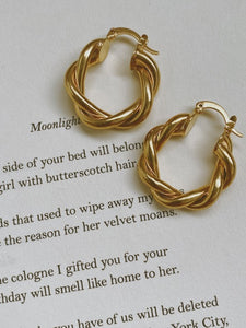 Sloan Vintage Twisted Hoops