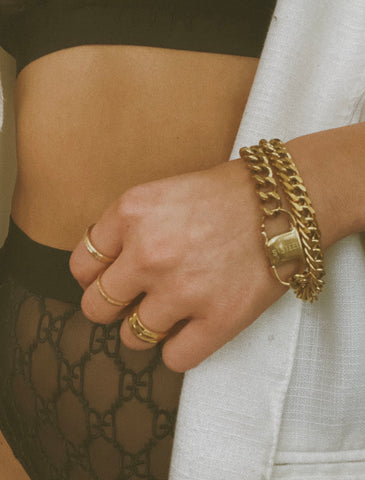Helda 24k Gold Plated Thick Bracelet