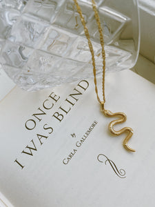 Snake Necklace - Gold Plated