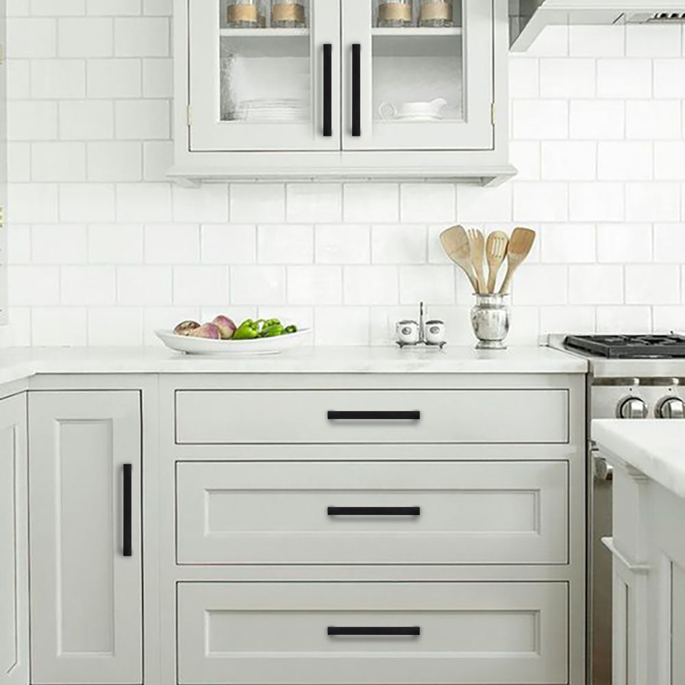 Black Pulls For Kitchen Cabinets