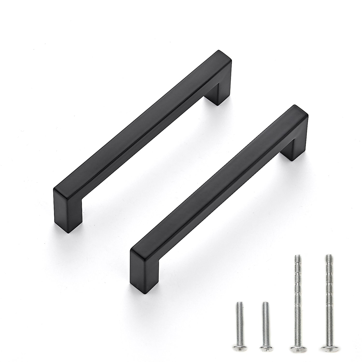Ravinte 15 Pack 5 Inch Kitchen Square Cabinet Handles Matte Black Cabinet Pulls Black Drawer Pulls Kitchen Cabinet Hardware Kitchen Handles for Cabinets Cupboard Handles Drawer Handles