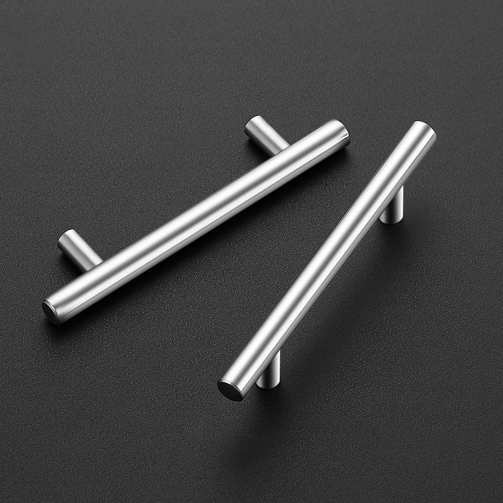 "Ravinte 10 Pack 5'' Cabinet Pulls Brushed Nickel Stainless Steel Kitchen Drawer Pulls Cabinet Handles 3"" Hole Center"