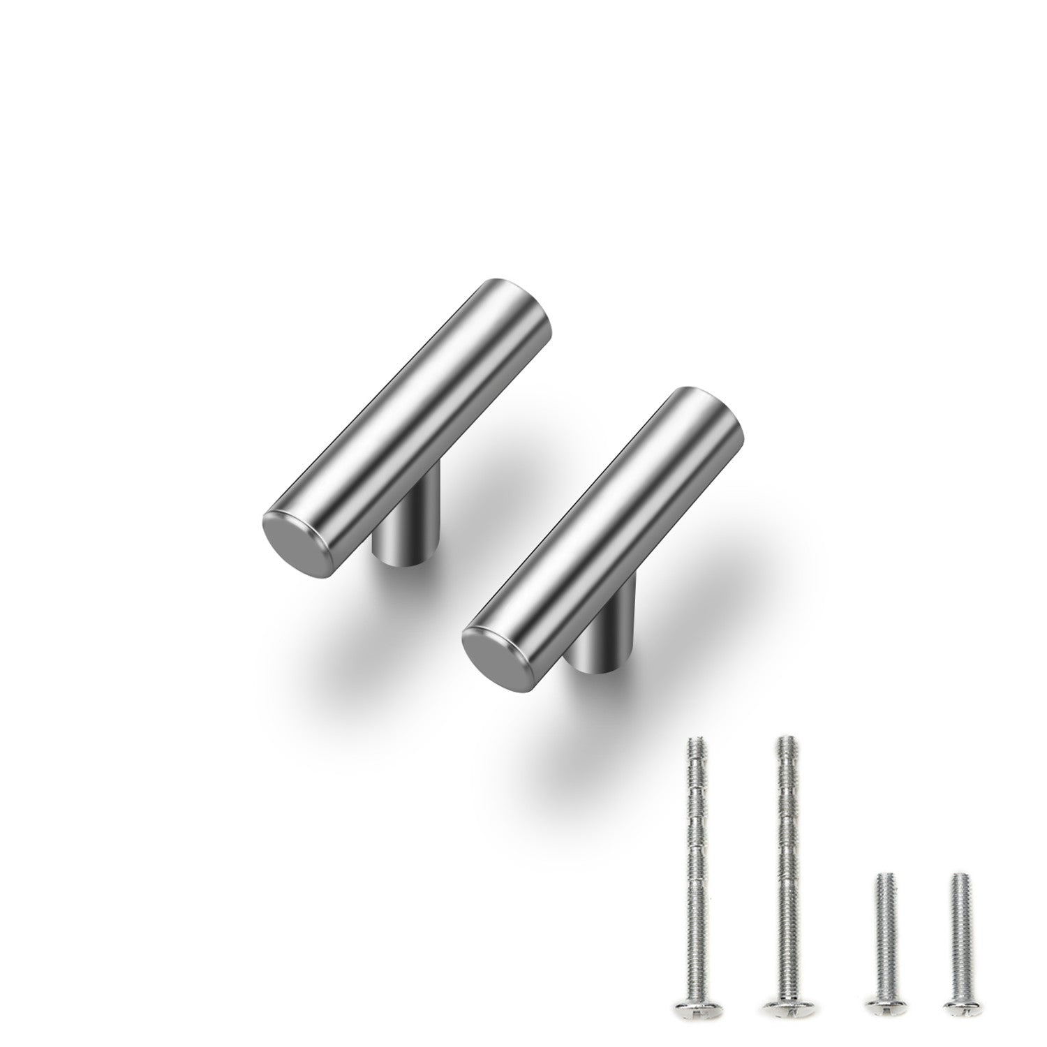 "25 Pack 2 Inchs Cabinet Pulls Brushed Nickel Stainless Steel Kitchen Cupboard Handles Cabinet Handles 2""Length"