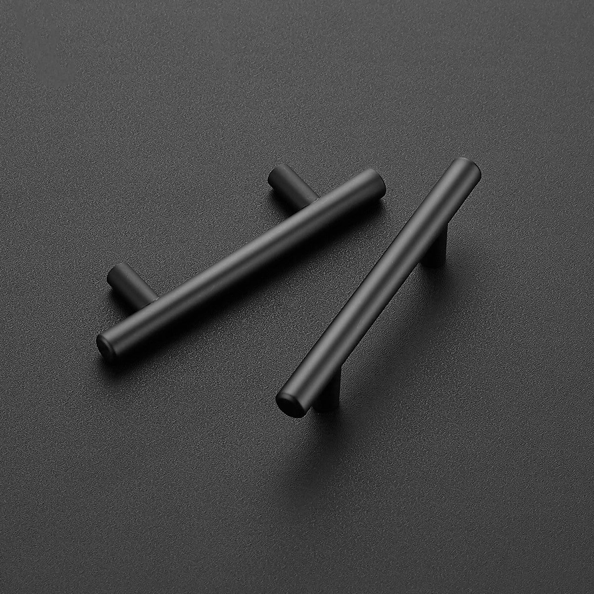 "12 Pack | 5'' Cabinet Pulls Matte Black Stainless Steel Kitchen Drawer Pulls Cabinet Handles 5""Length, 3"" Hole Center"