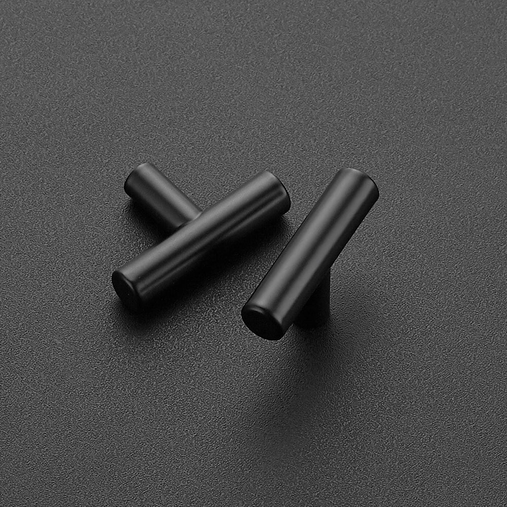"Cabinet Pulls Matte Black Stainless Steel Kitchen Cupboard Handles Cabinet Handles 2""Length, 30-Pack"