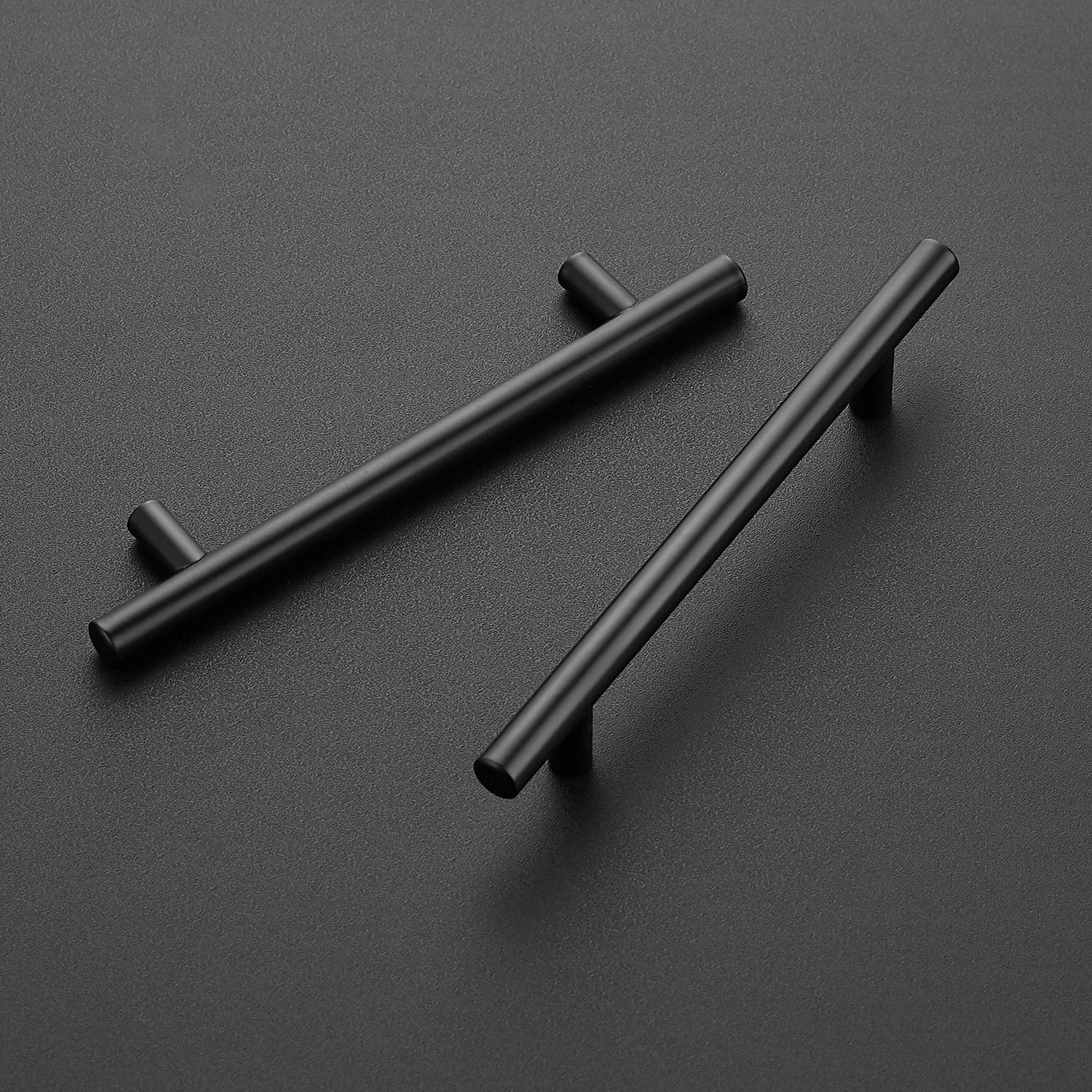 30 Pack 7.38'' Cabinet Pulls Matte Black Stainless Steel Kitchen Cupboard Handles Cabinet Handles 7.38'' Length, 5'' Hole Center