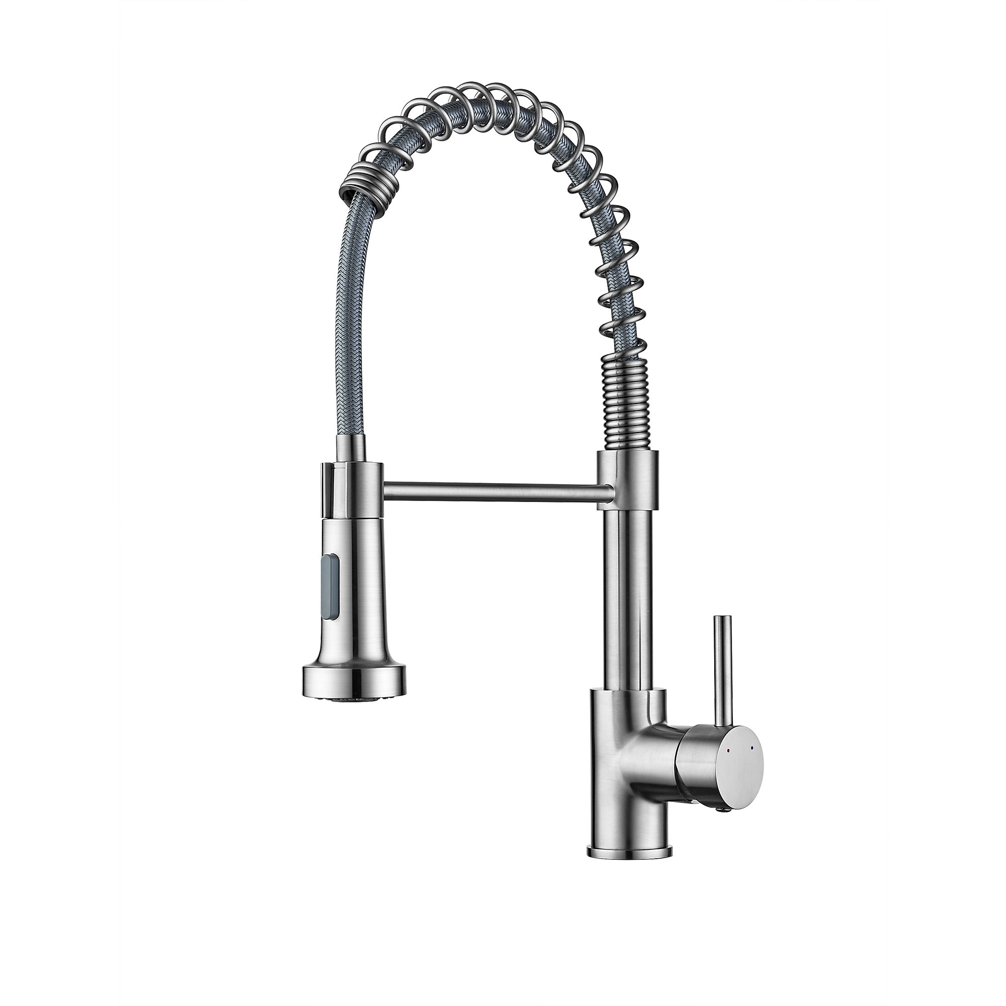 Ravinte Commercial Kitchen Faucet With Sprayer Single Handle Spring Spout Faucets Pull Down Sprayer Solid Brass Kitchen Sink Faucet Farmhouse Kitchen Faucets