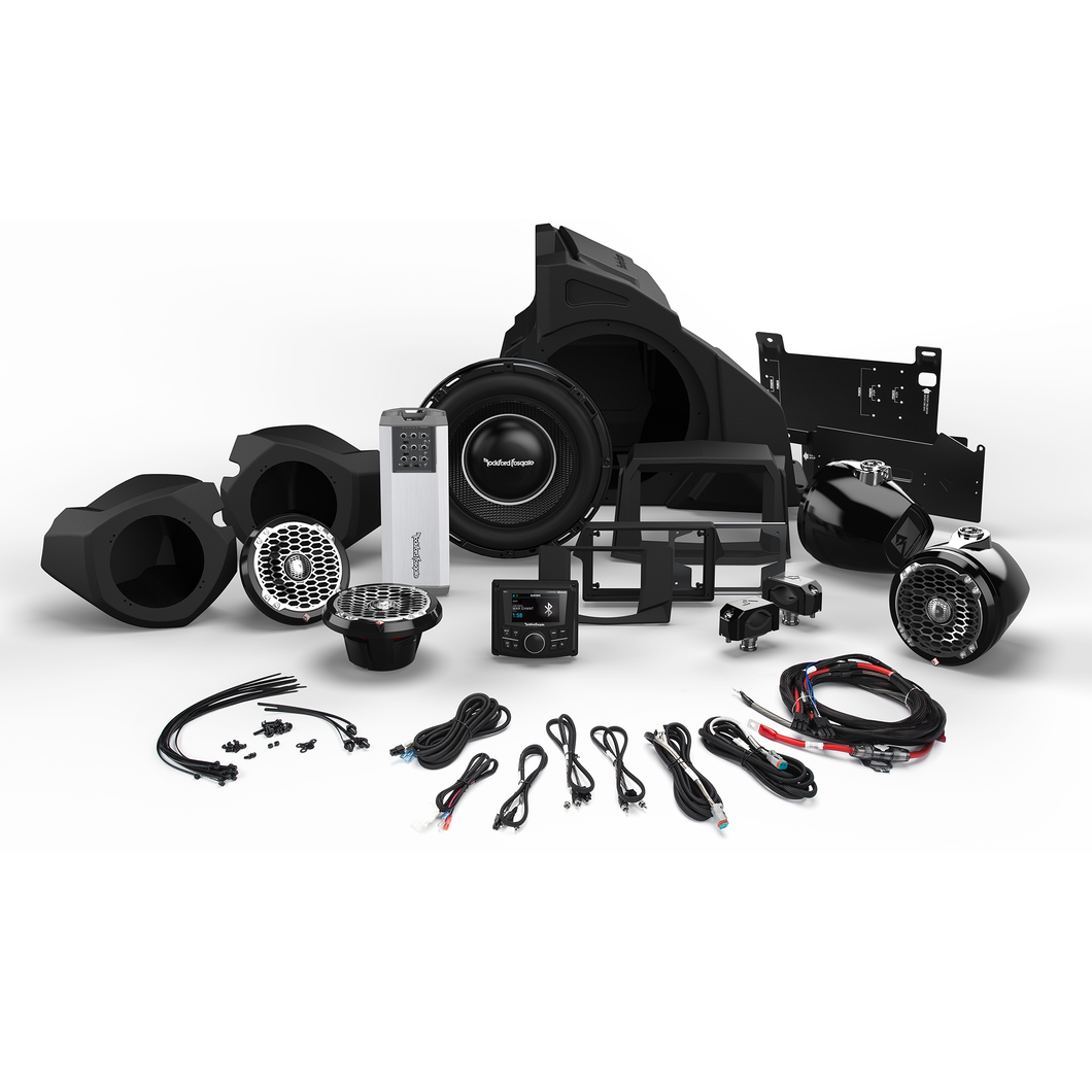 1,000 WATT STEREO, FRONT AND REAR SPEAKER, AND SUBWOOFER KIT FOR SELECT POLARIS® RZR® MODELS RZR14-STAGE5