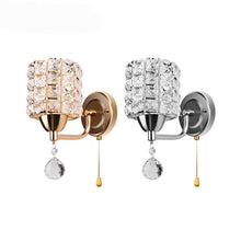 Gold or Silver Crystal Light Sconce