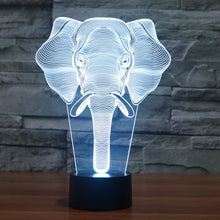 3D African Elephant Illusion LED Entertaining Night Light