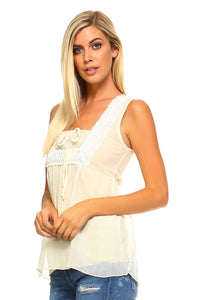 Women's Crochet Sleeveless Top  the outback18 the outback18