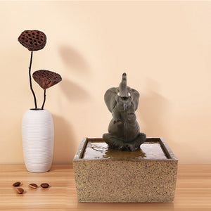 Elephant Tabletop Fountain  the story book the outback18