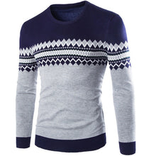 Men's Zigzag Pullover Knitted Sweater