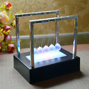 Amazing Light Up Newton's Cradle Glass Ball Pendulum