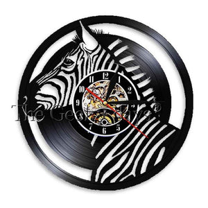 Zebra Safari Vinyl Record Wall clock  the story book the outback18