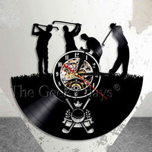 Golf Club Vinyl Record Wall Clock
