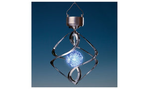 Spiral Color Changing Solar Wind Chime