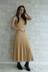 GOLD KNITTED DRESS