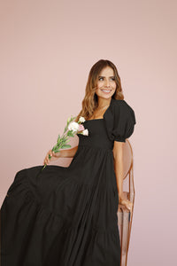 AIHNOA BLACK LONG DRESS