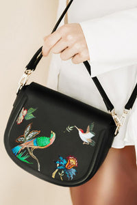ALEPEL CROSSBODY FLORAL BIRD BAG PRE-ORDER