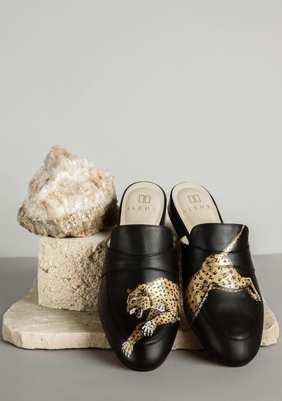 ALEPEL LEOPARD MULES PRE-ORDER