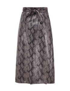 FAUX WATERSNAKE SKIRT