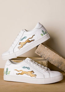 ALEPEL GOLDEN LEOPARDS WHITE SNEAKERS PRE-ORDER