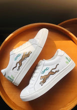 Load image into Gallery viewer, ALEPEL GOLDEN LEOPARDS WHITE SNEAKERS PRE-ORDER