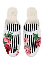 Load image into Gallery viewer, ALEPEL ROSE STRIPPED MULES PRE-ORDER