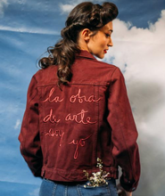 Load image into Gallery viewer, OLA OBRA DE ARTE SOY YO BURGUNDY JACKET