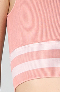 PINK STRIPED ACTIVEWEAR SET