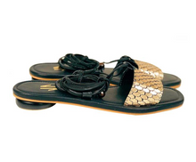 Load image into Gallery viewer, SANTOS BLACK SANDALS