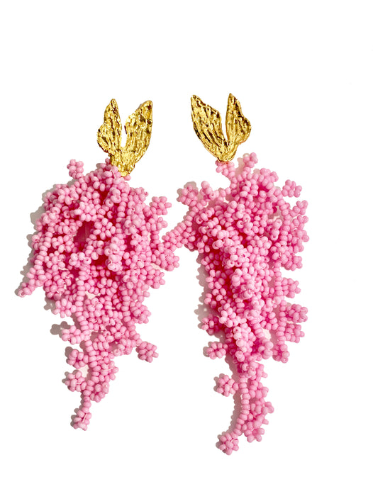 CORAL WATERFALL EARRINGS JETLAGMODE X ENTRE SUEÑOS