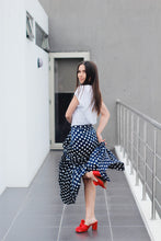 Load image into Gallery viewer, BLUE POLKA DOT SKIRT
