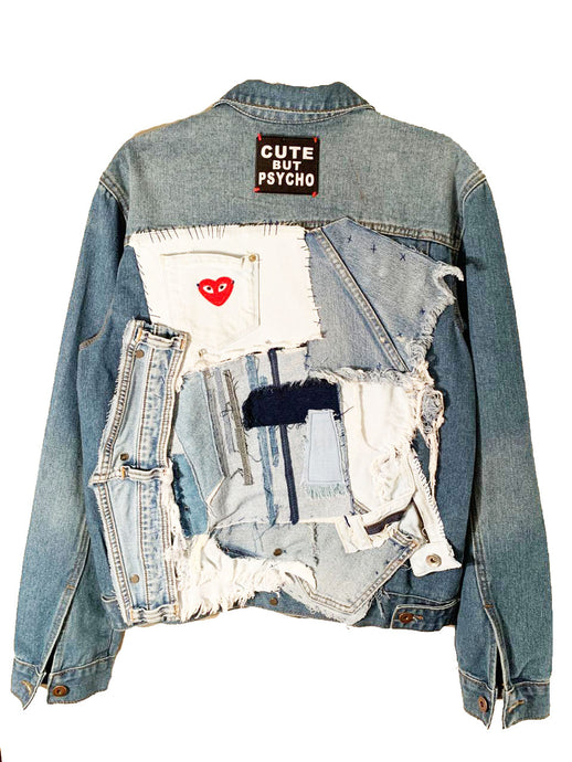 CUTE BUT PYSCHO DENIM JACKET