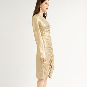 GOLD LONGSLEEVE DRESS