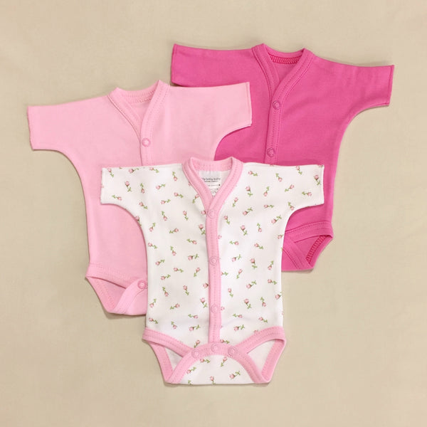 Front Snap Opening Bodysuit 3-pack