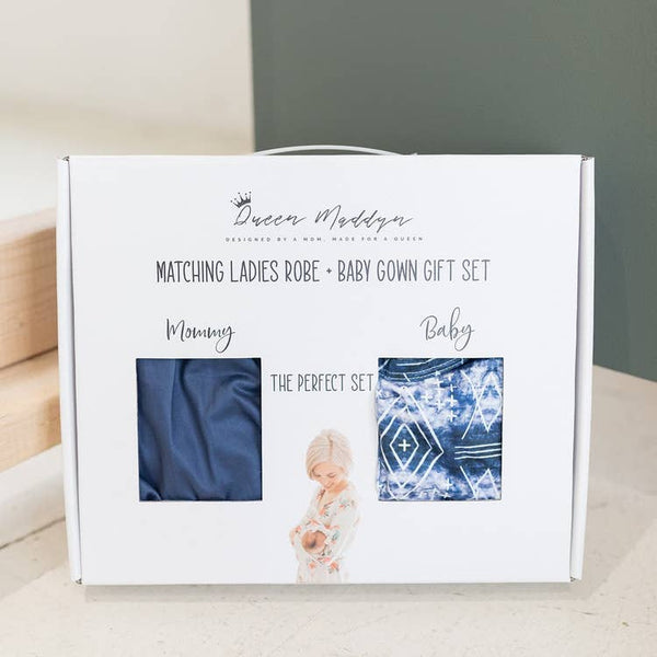 Matching Ladies Robe and Baby Gown Gift Set