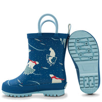 Jan & Jul - Arctic | Puddle-Dry Rain Boots (with handles)