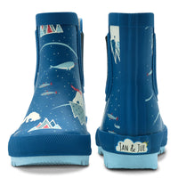 Jan & Jul - Arctic | Puddle-Dry Rain Boots (with elastic)